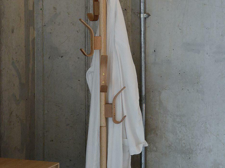 tall oak coat stand