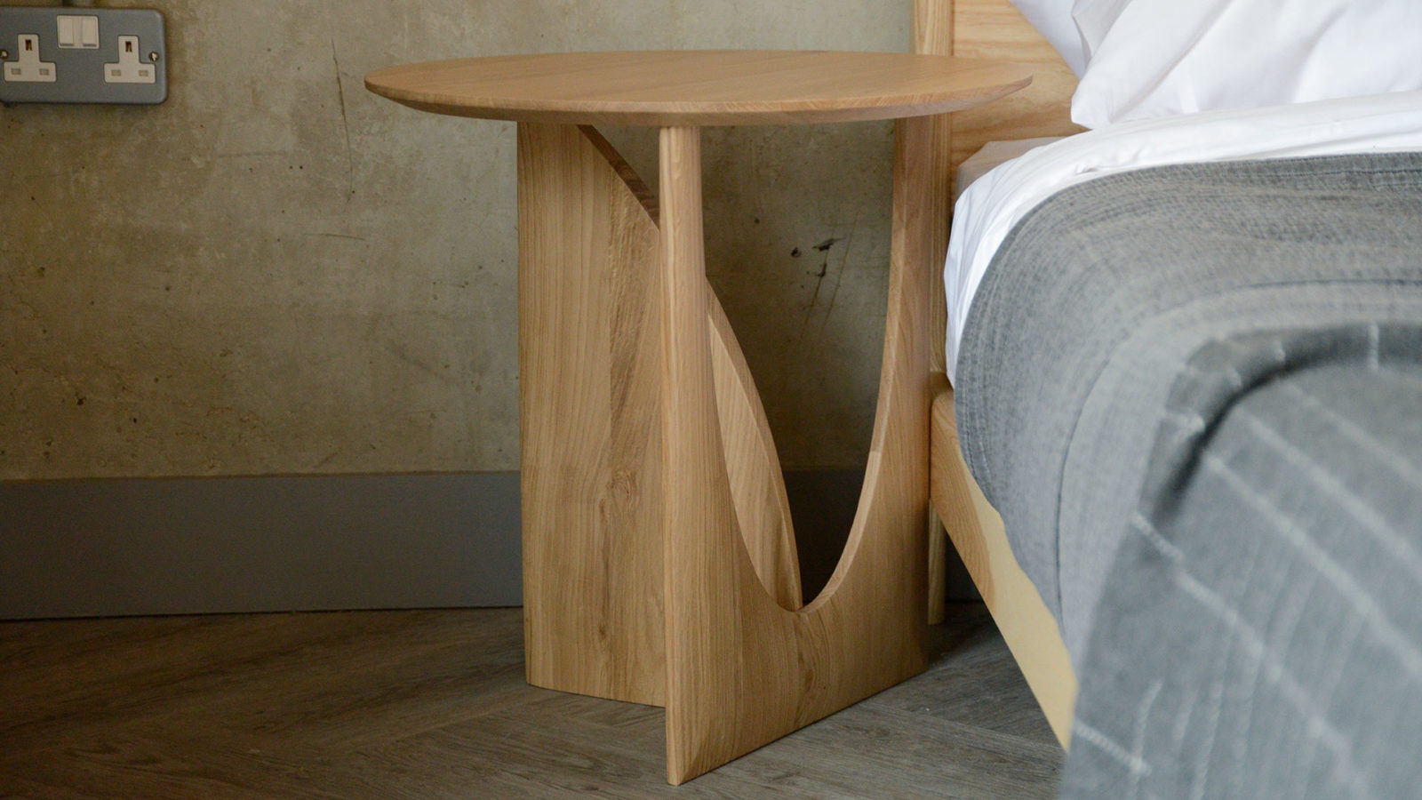 Geometric bedside table