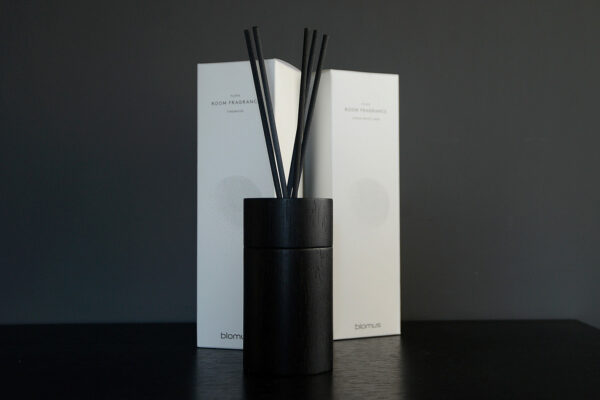 sophisticated and refillable dark wooden room-scent diffuser