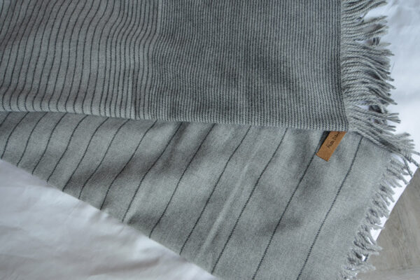 Momentum - Grey Stripe Throw