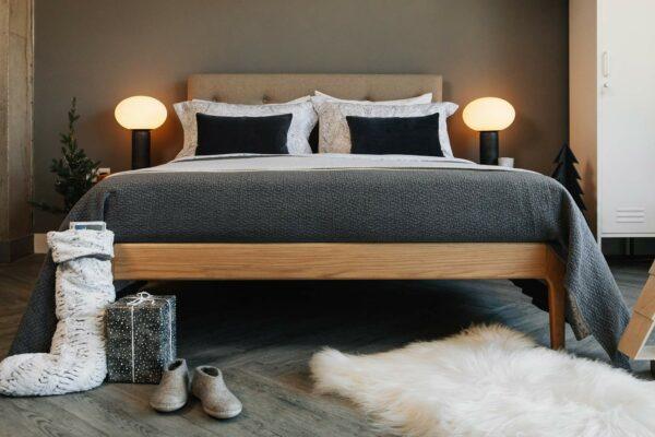 Scandinavian style christmas bedroom