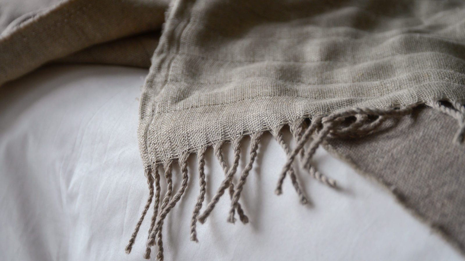 linen and wool throw