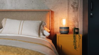 Strap Bedside Lights - Grey
