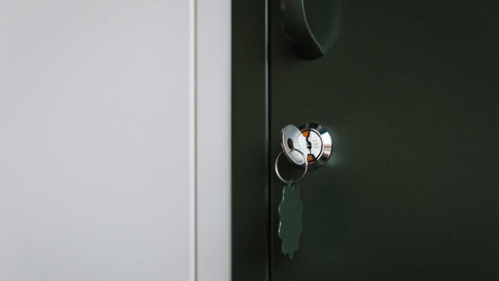 mustard lockers - door detail