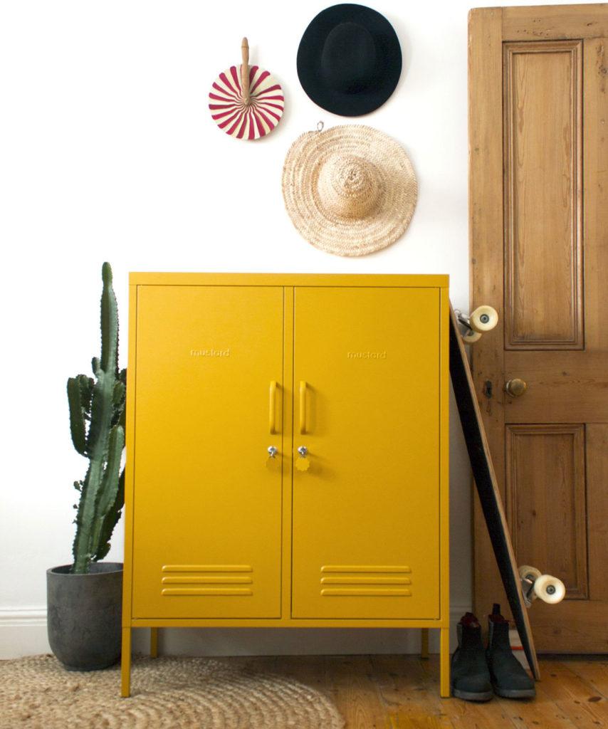 Mustard Midi Locker - large cupboard