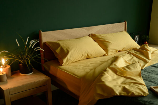 colourful bedding combo yellow and green