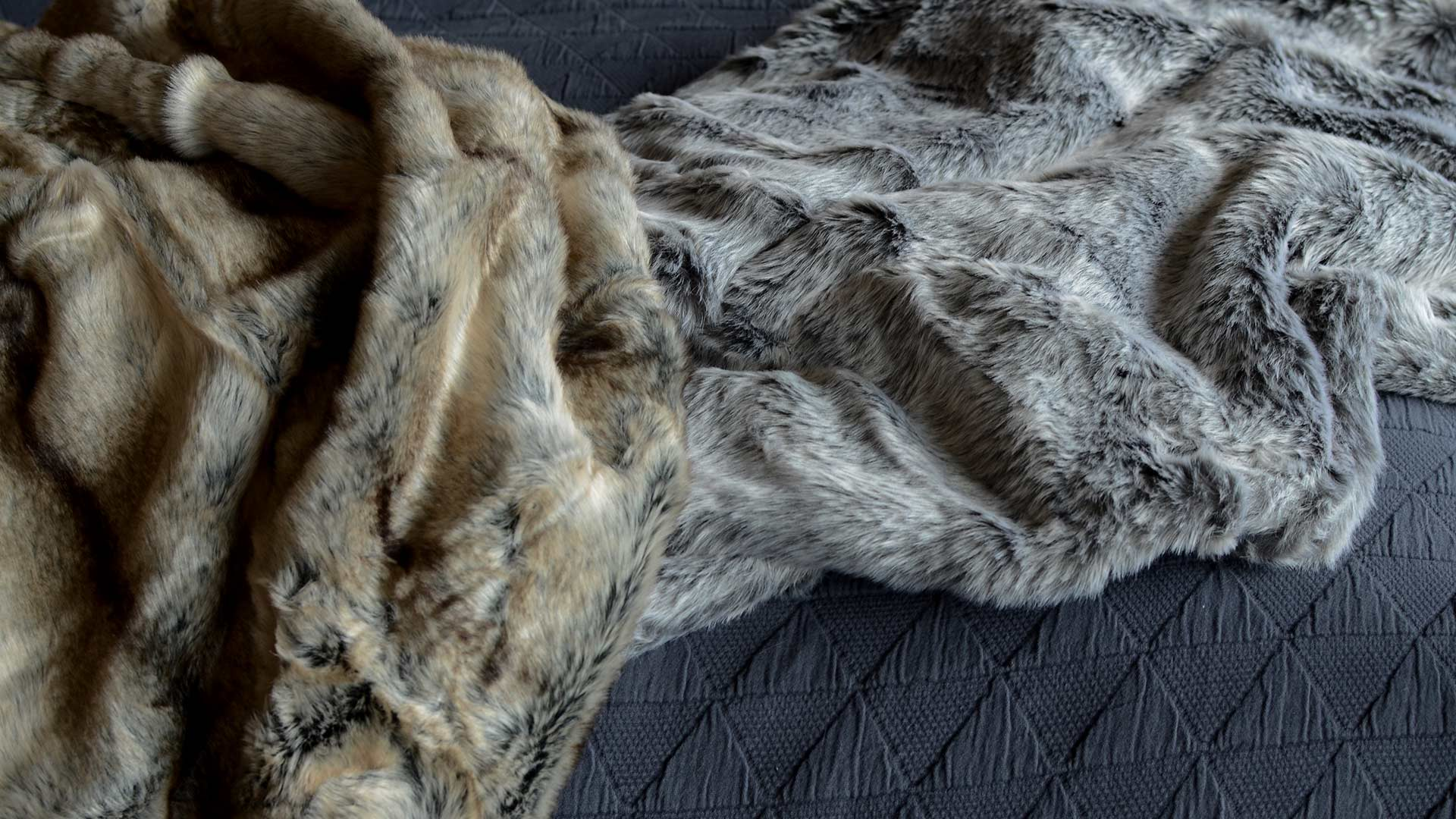 Faux Fur Throws Natural Look Natural Bed Company