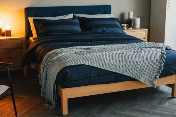 reversible duvet set - navy