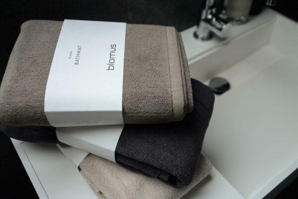 pure cotton bath mats in 3 colour options