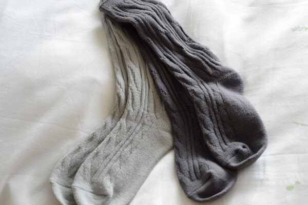 soft grey socks
