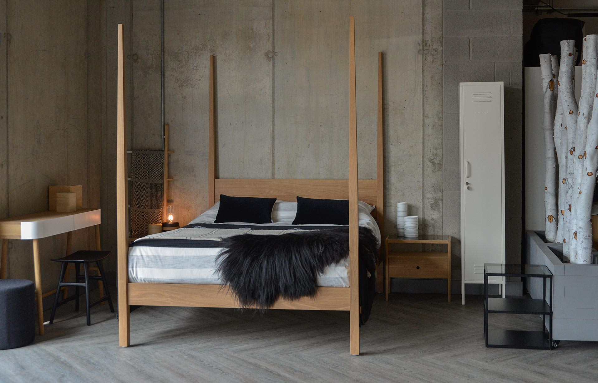 A striking bedroom centrepiece our handmade solid wood Hatfield 4 post bed