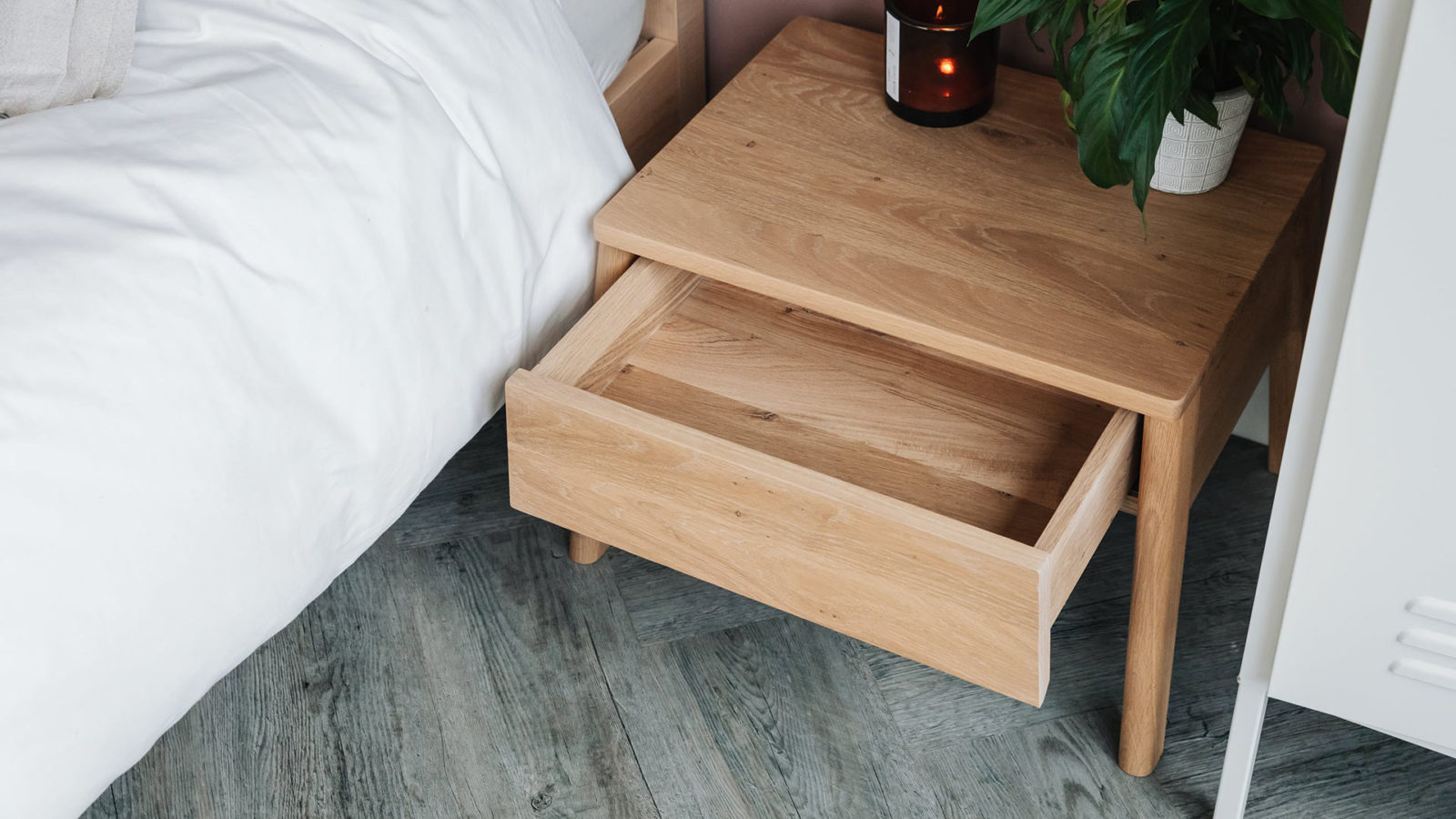 Air bedside table - open drawer
