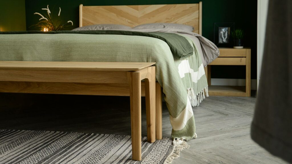 solid oak bench or end of bed table