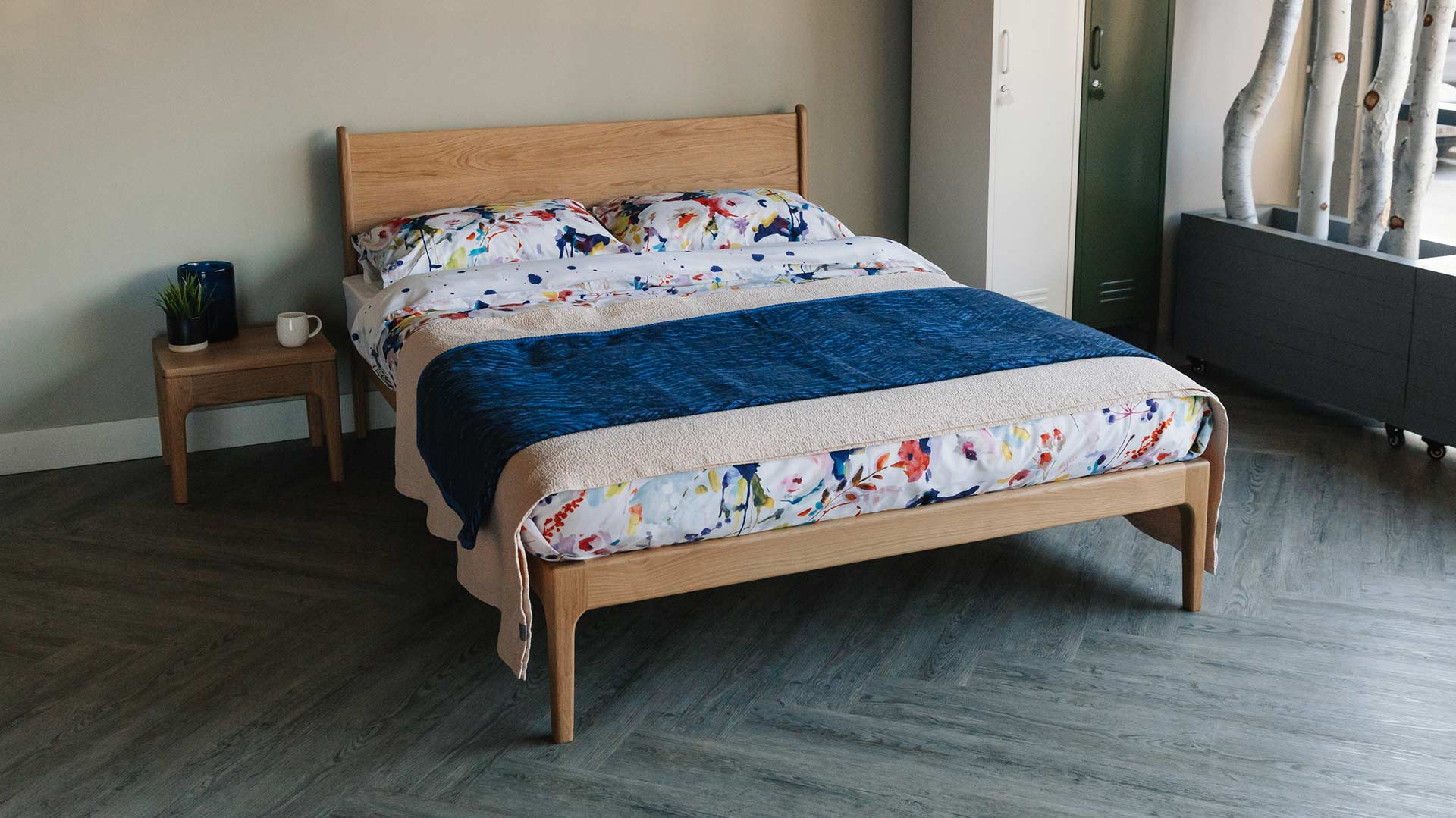 Reversible Duvet Sets Modern Painted Flowers Natural Bed Company