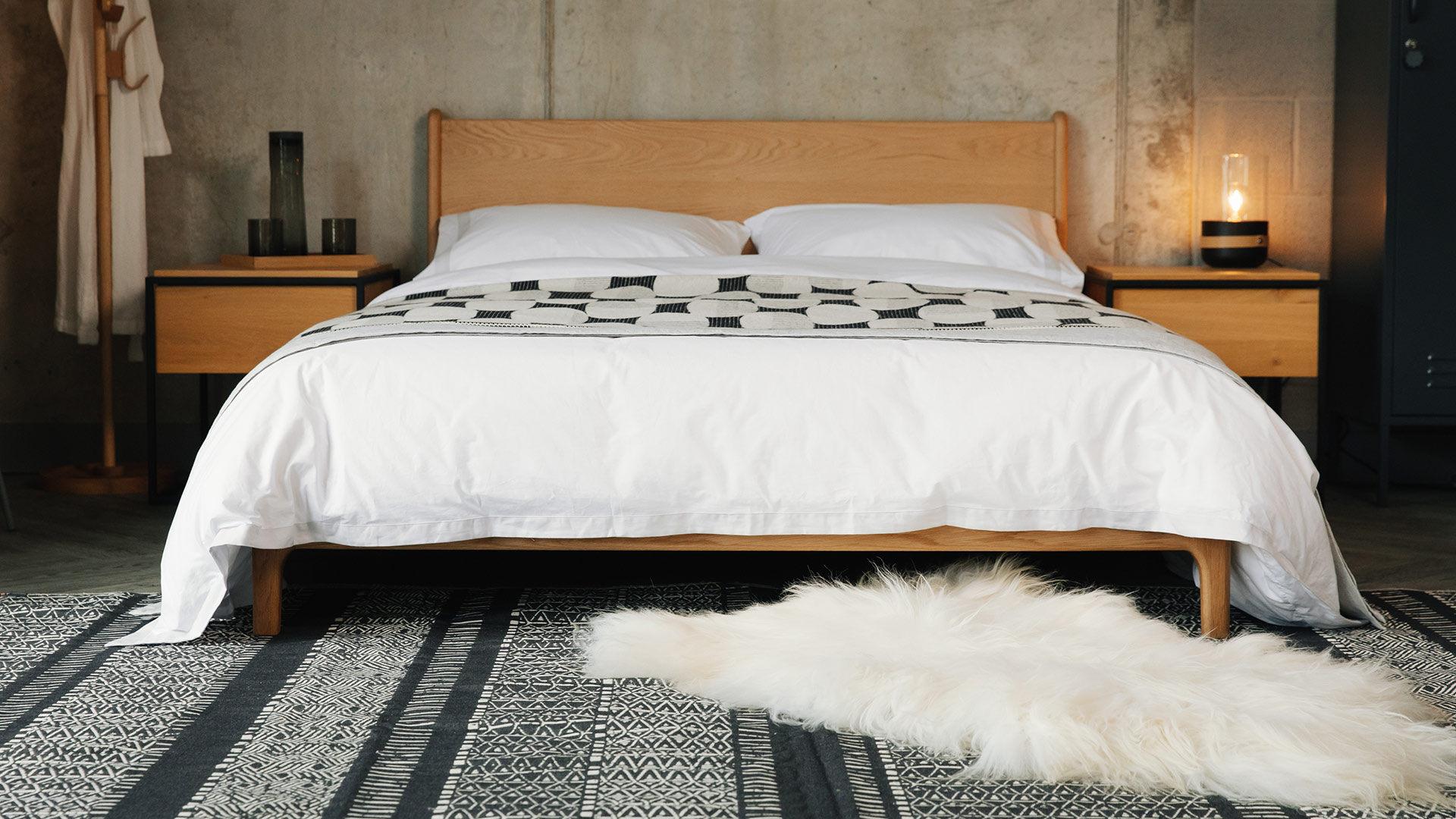 Carnaby Handcrafted Bed Solid Wood Beds Natural Bed Company