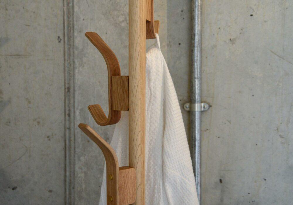 coat stand in light oak