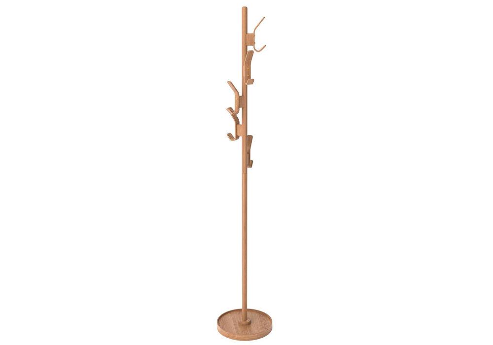 modern oak coat stand
