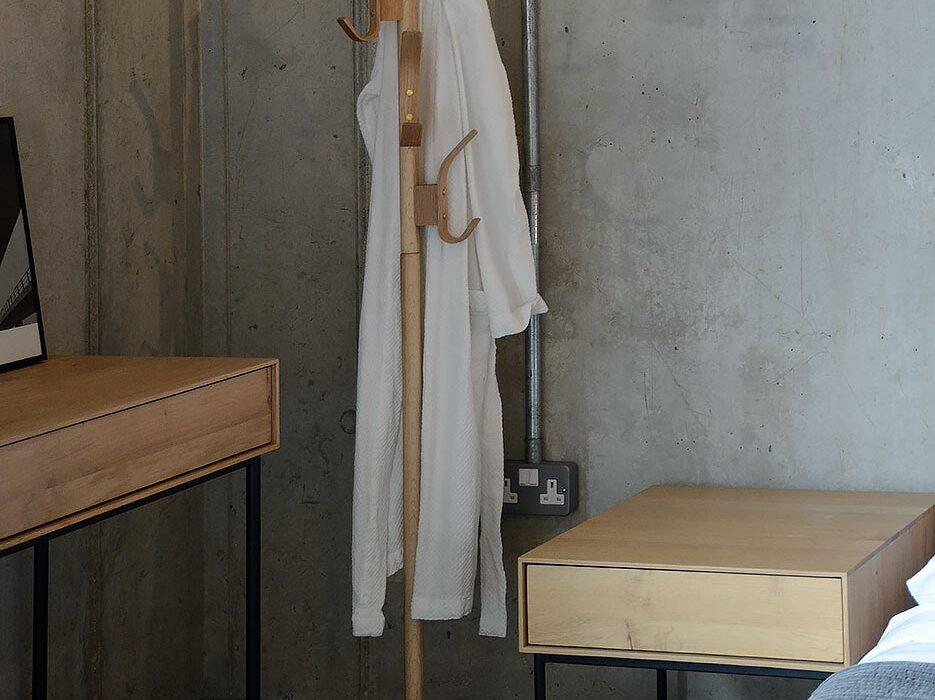 oak coat-stand