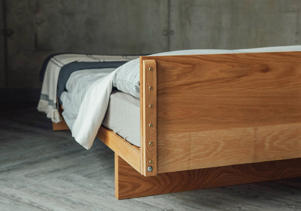 A view of our Japanese style Kyoto bed from the back of the Headboard
