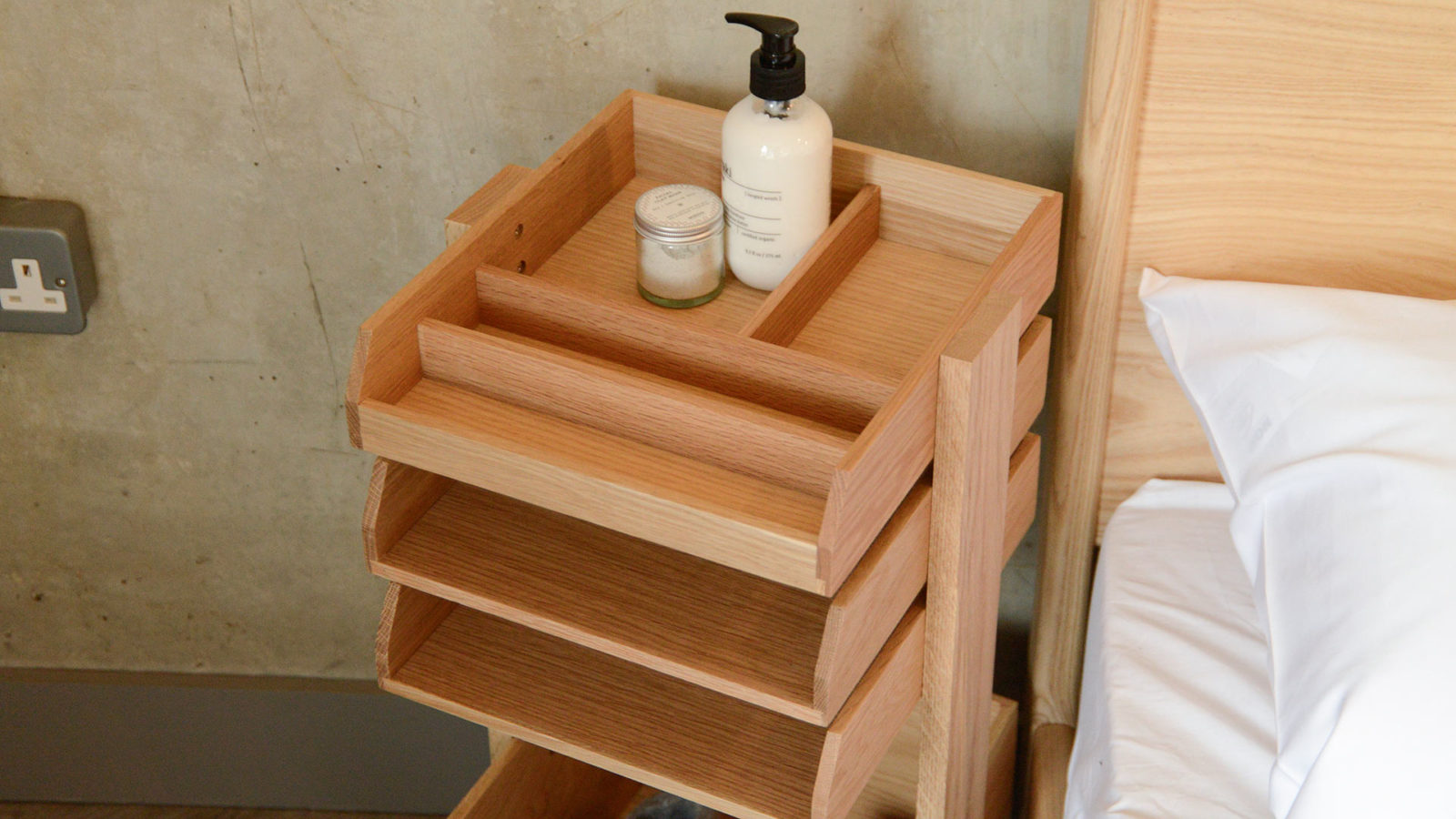 keeping tidy - organiser trolley in oak
