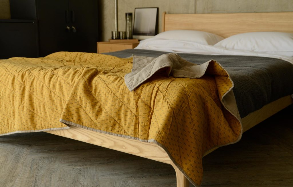 soft cotton quilted throw