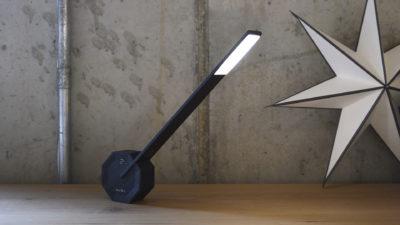 LED table lamp - black wood finish