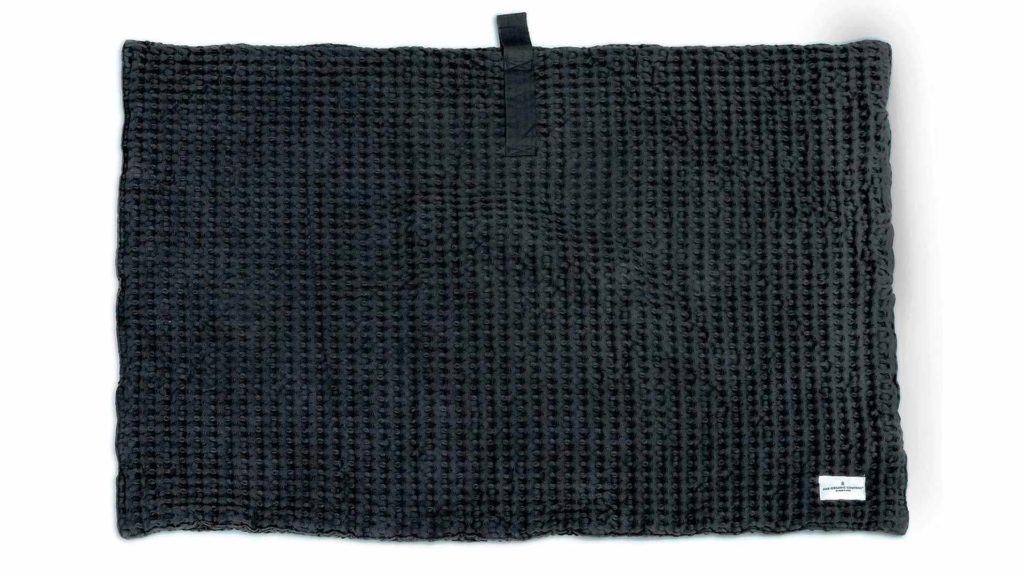 organic cotton bath mat - grey