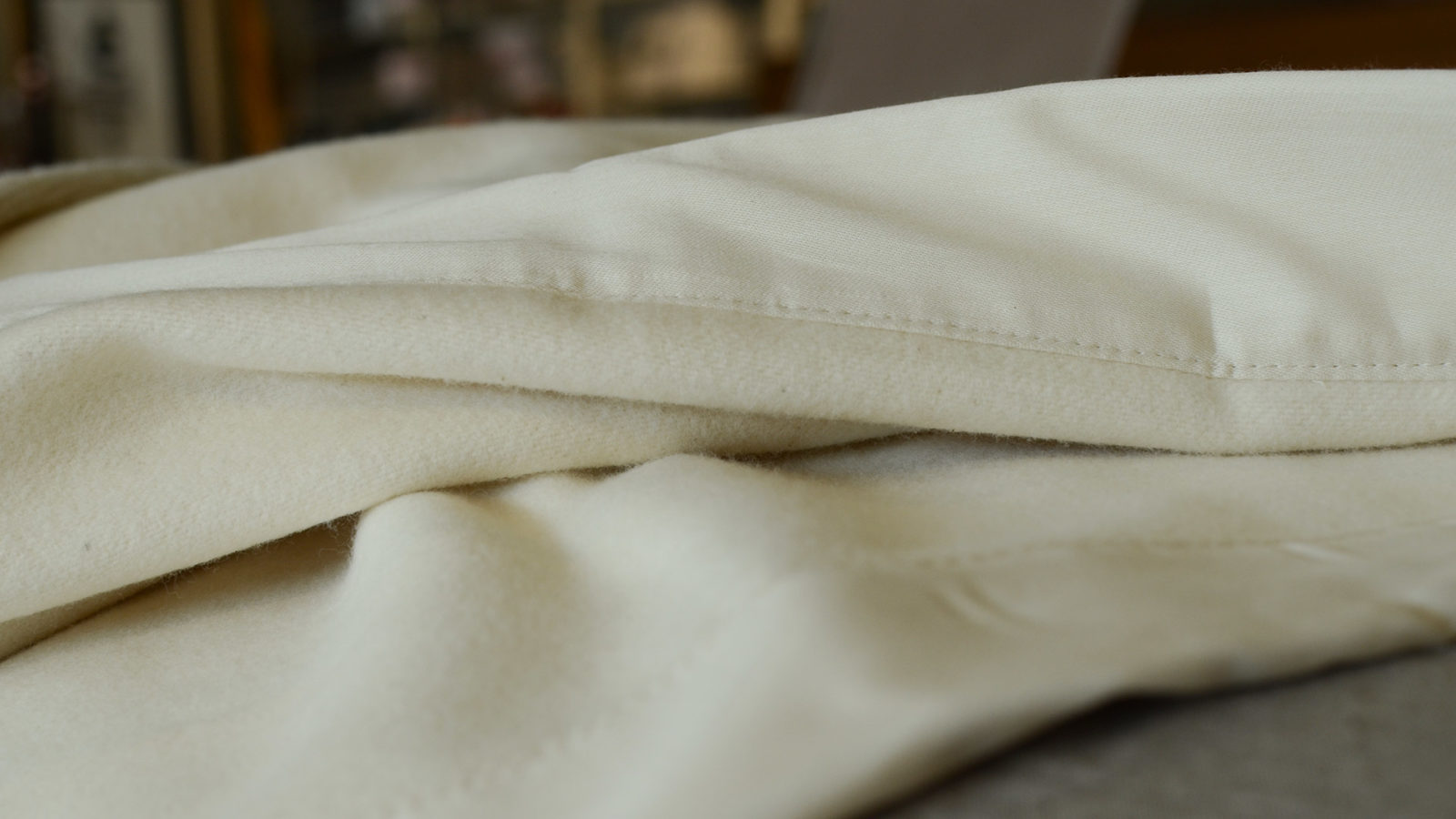 organic brushed cotton cosy blanket