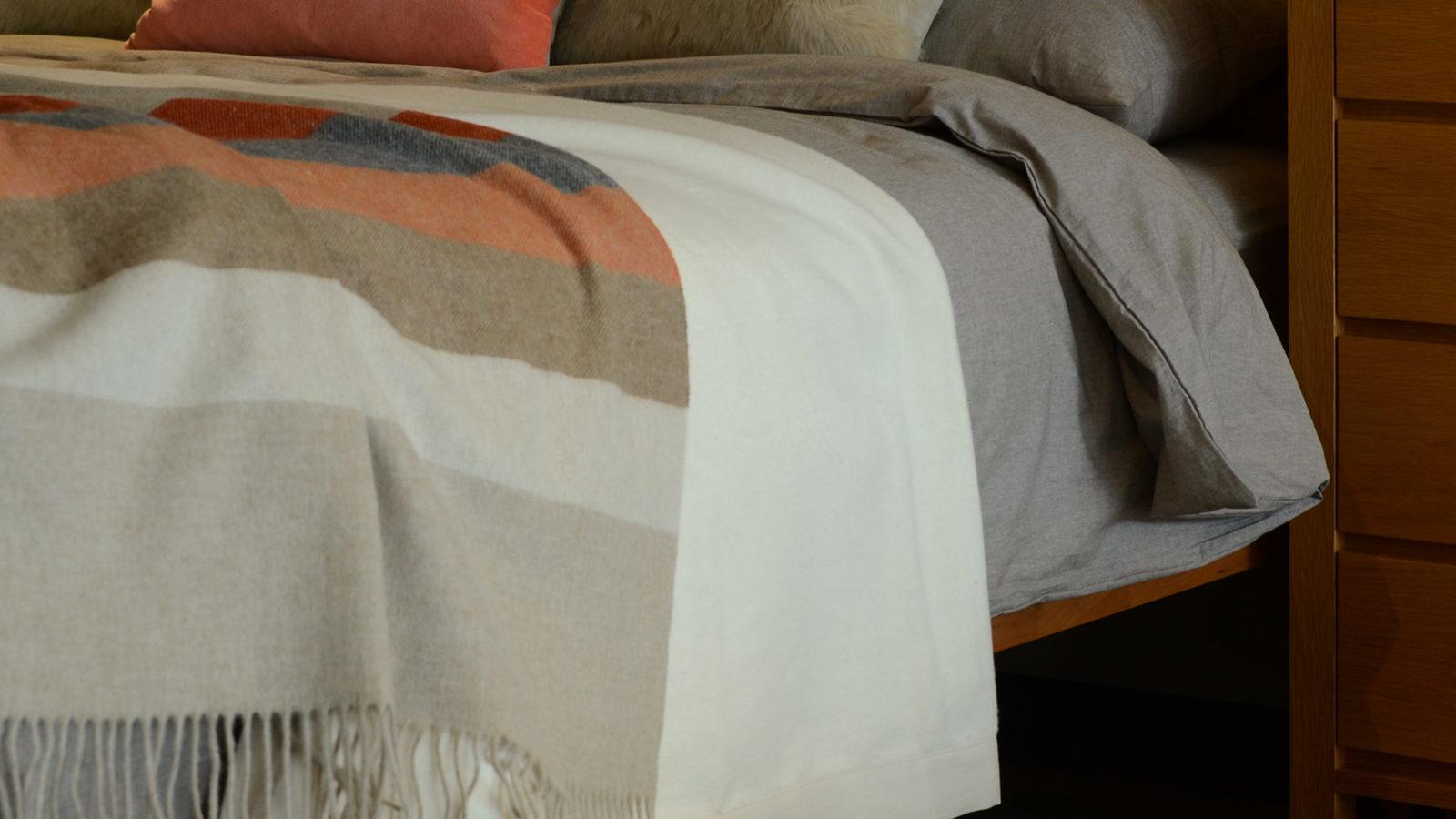 soft brushed organic cotton blanket