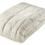 GOTS and Soil Association certified organic cotton quilted mattress cover, natural and vegan
