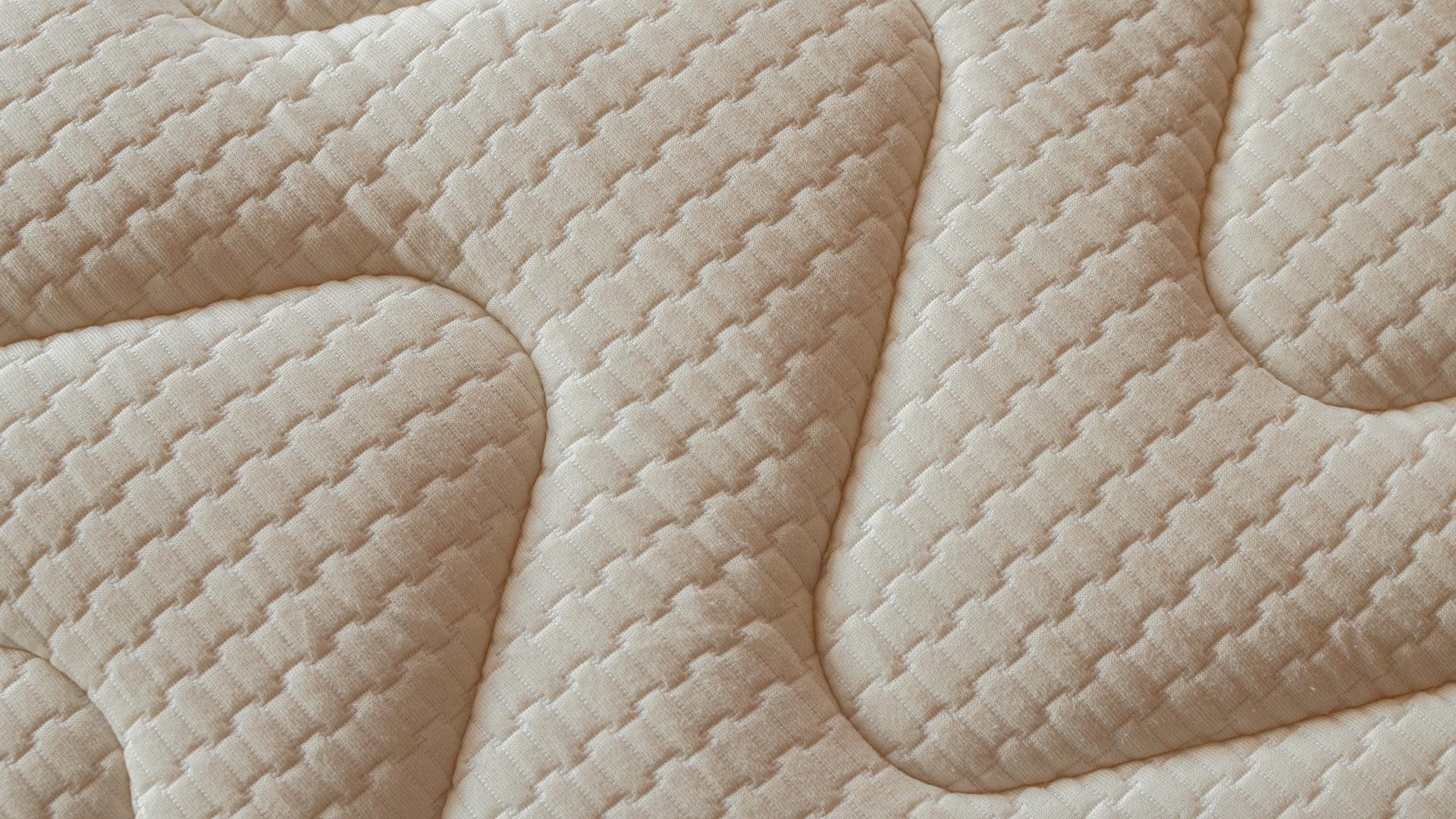 Organic cotton & wool reversible mattress topper - cotton side