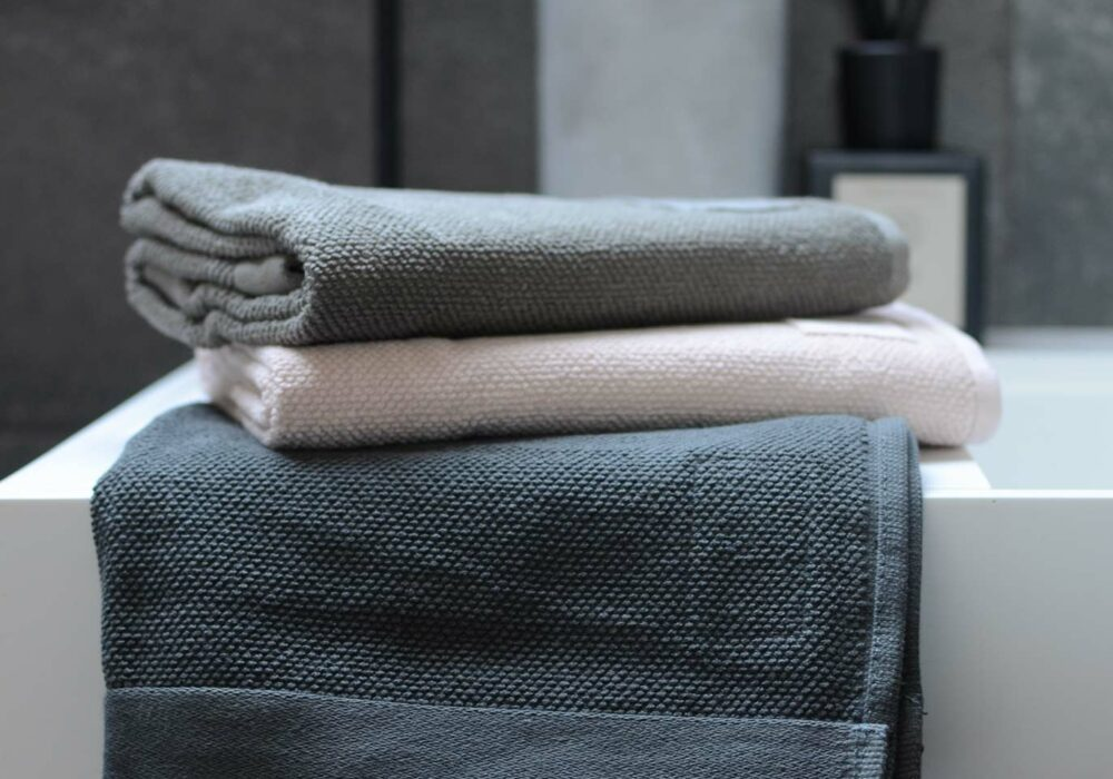Soil Association certified organic soft cotton terry-weave towels