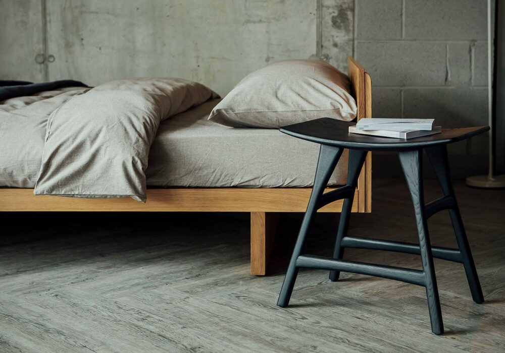 Our Hand-made solid Oak Kyoto Japanese low beds in style