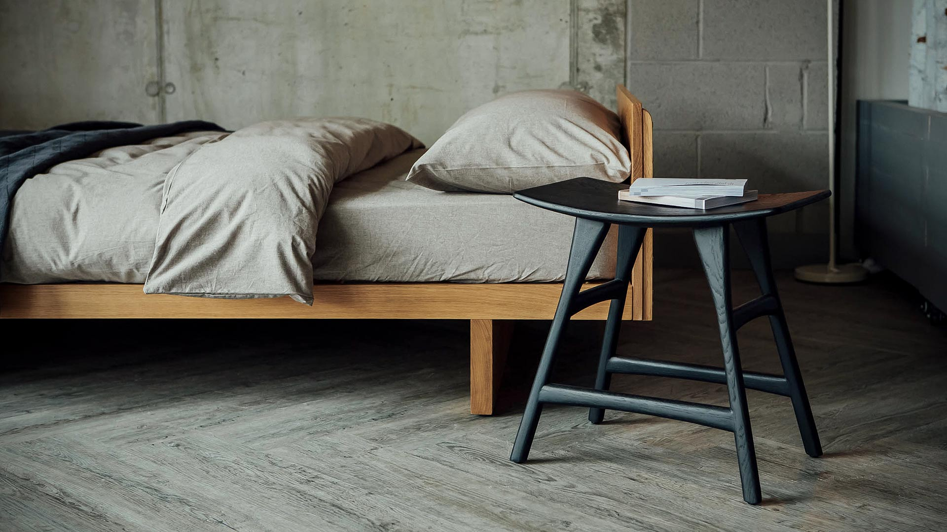 Our Hand-made solid Oak Kyoto Bed Japanese in style