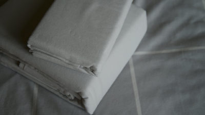 pale grey brushed cotton bedding