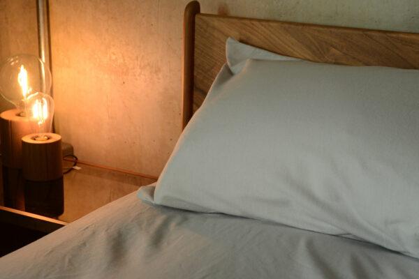 pale grey brushed cotton bedding