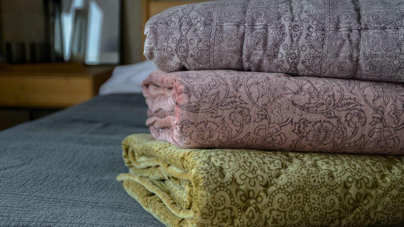 reversible velvet quilts