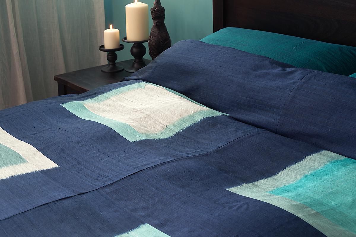 pha tung midnight - silk duvet cover