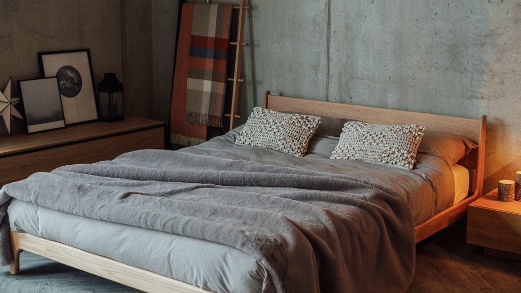 Low bed for a loft space - our solid wood Pimlico Bed