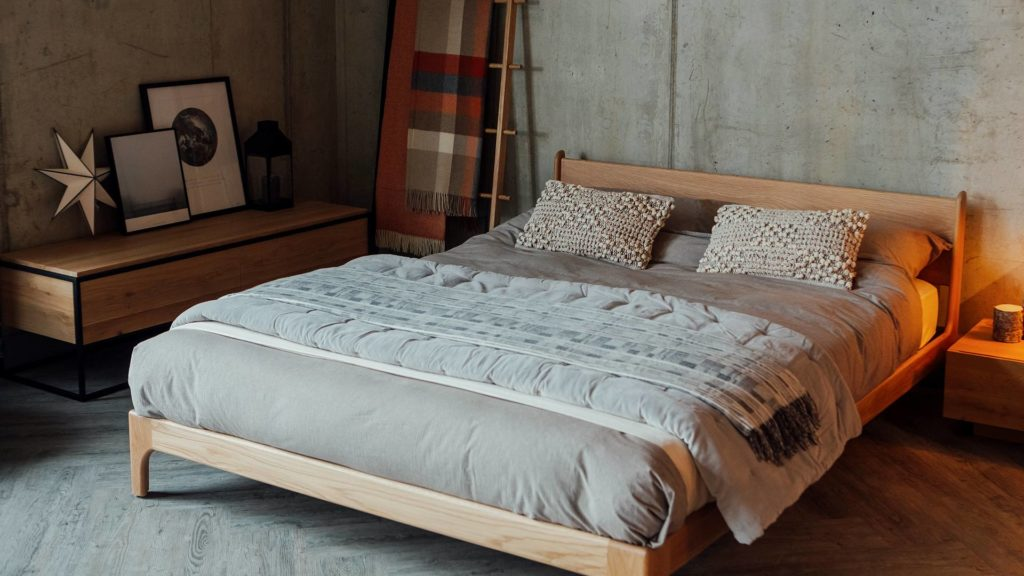 Pimlico a low retro style bed made from solid wood