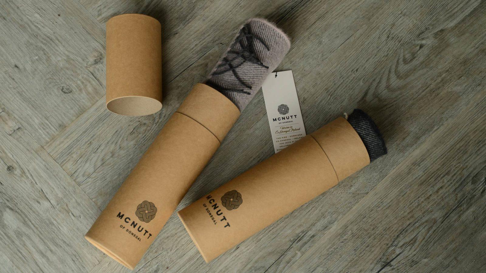 soft herringbone merino lambswool scarf in tube gift box