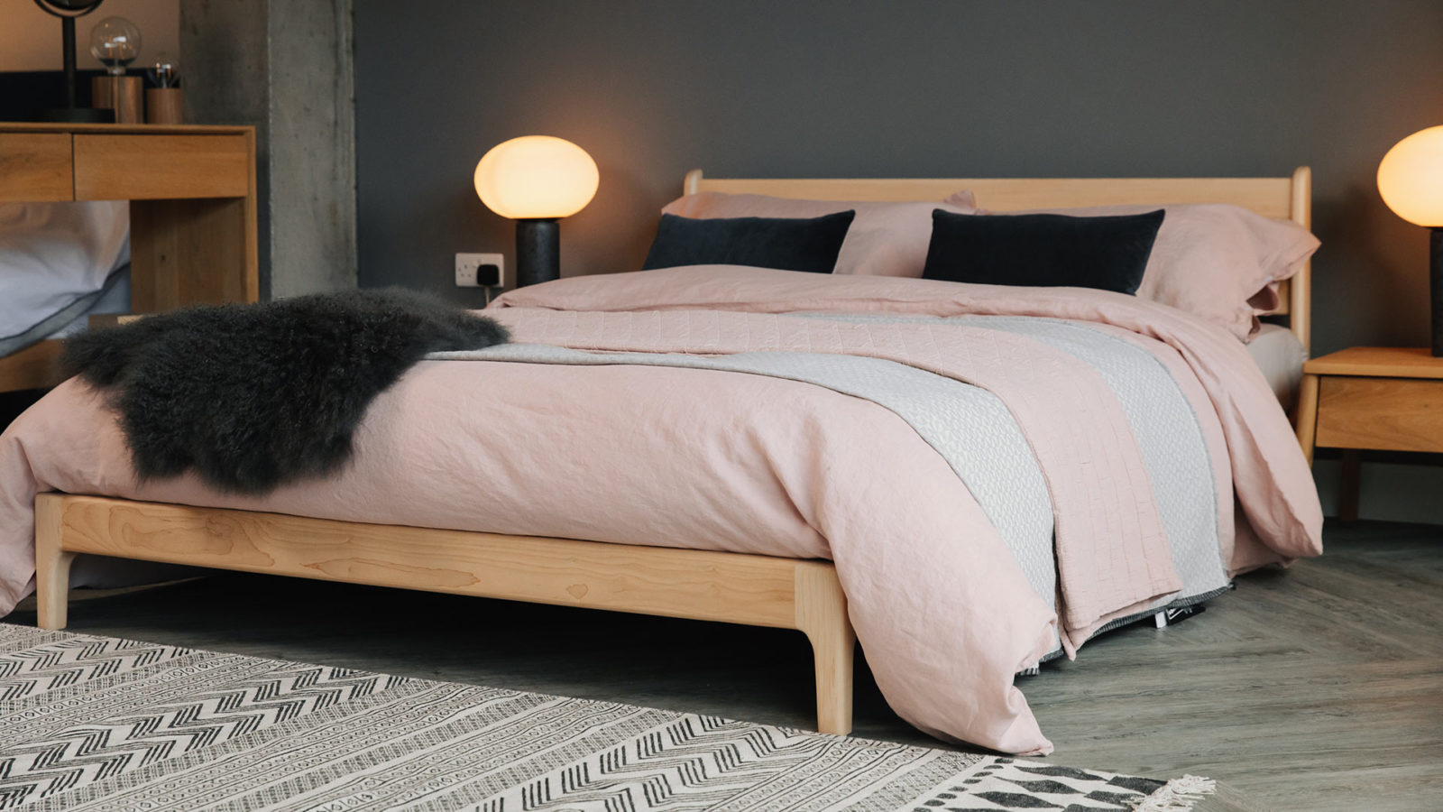 British made low Pimlico bed in Maple