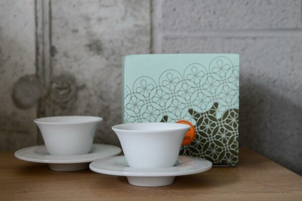 modern espresso cups and saucers gift boxed set