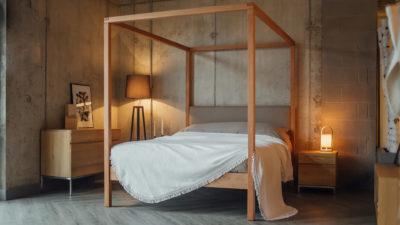 Porto white cotton bedspread