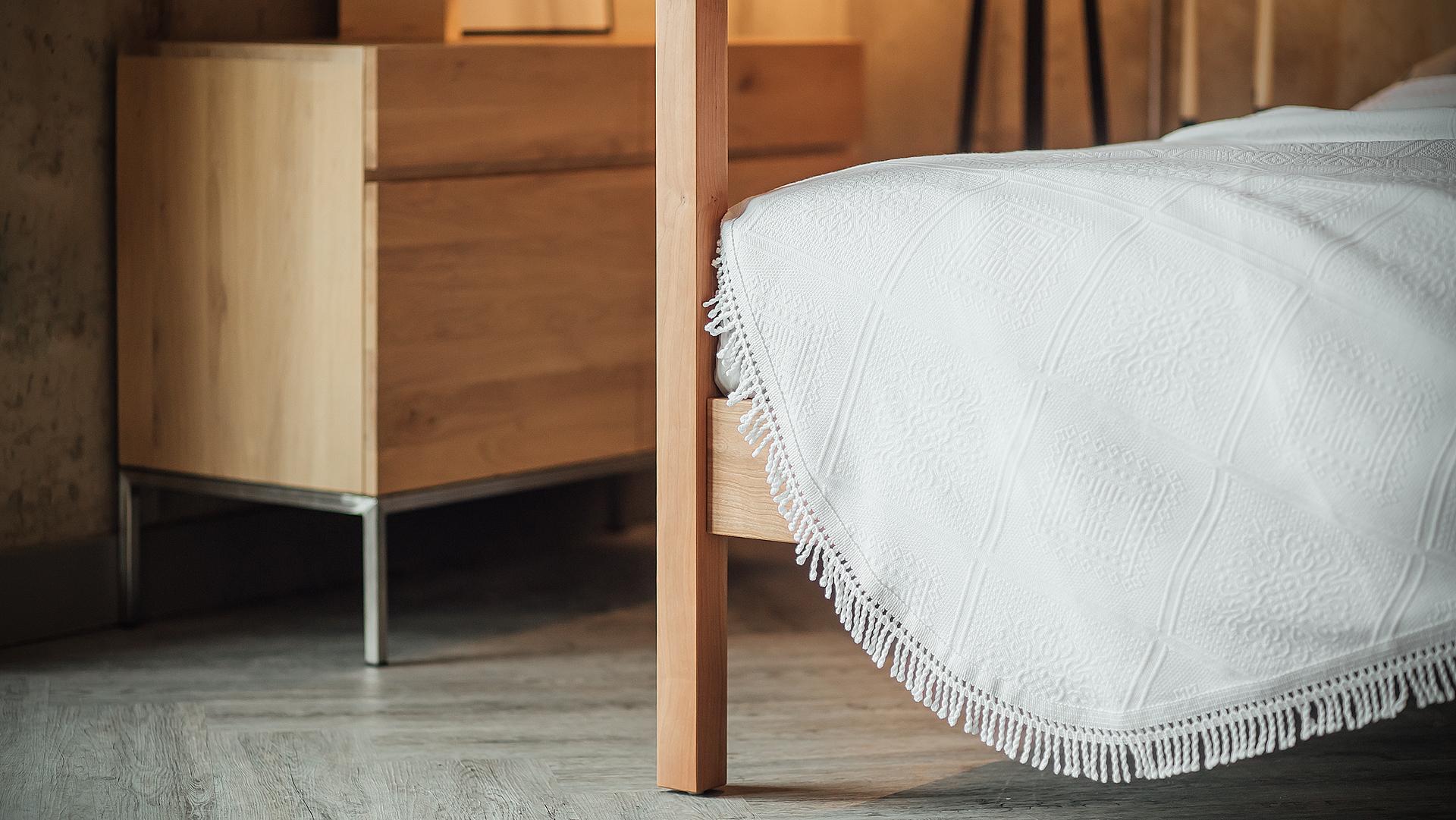 Porto Cotton Rich Bedspread White Natural Bed Company
