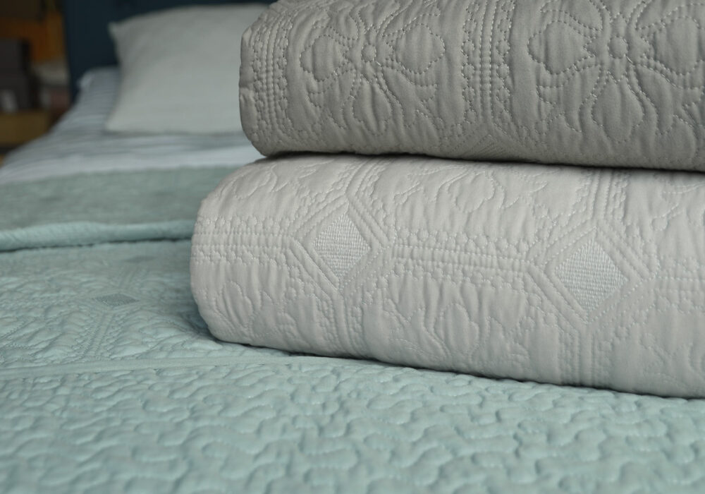 Classic embroidered bedspreads