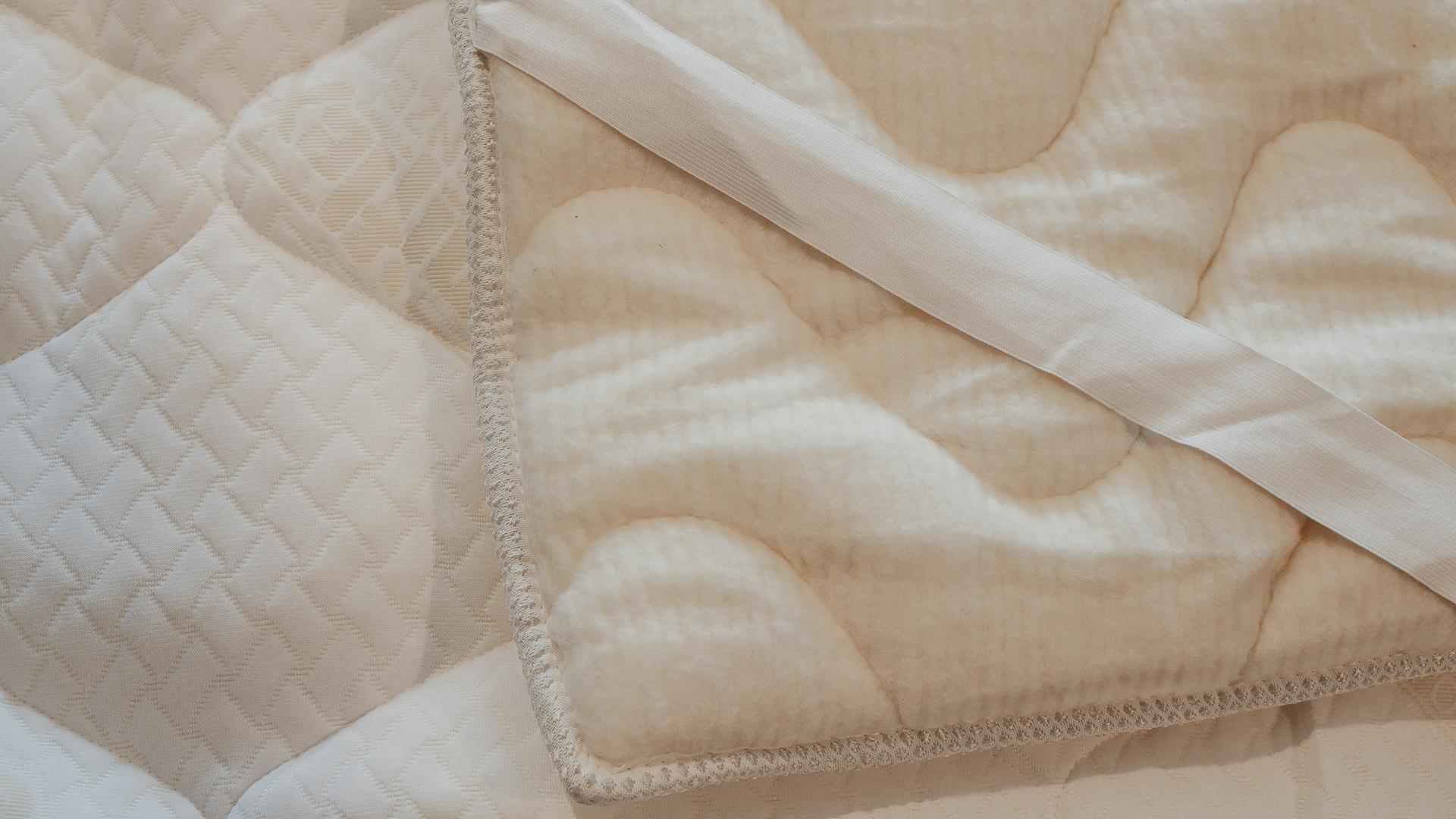 reversible coolmax mattress topper - wool and coolmax