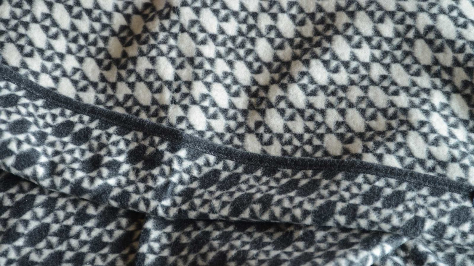 soft brushed cotton blanket with black and white design