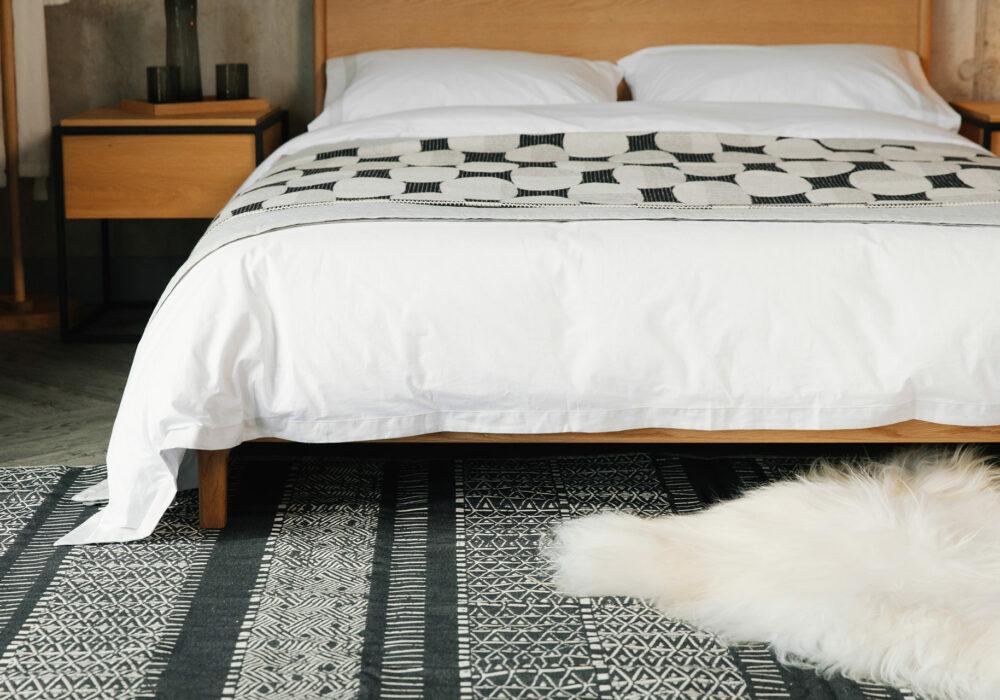 Cotton flatweave rug modern ethici