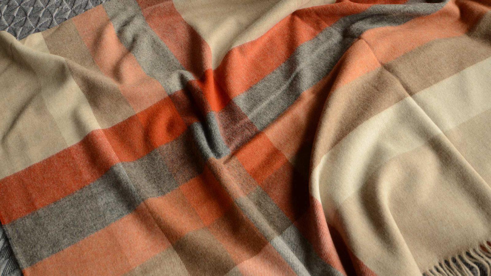 saffron-throws-striped-pattern